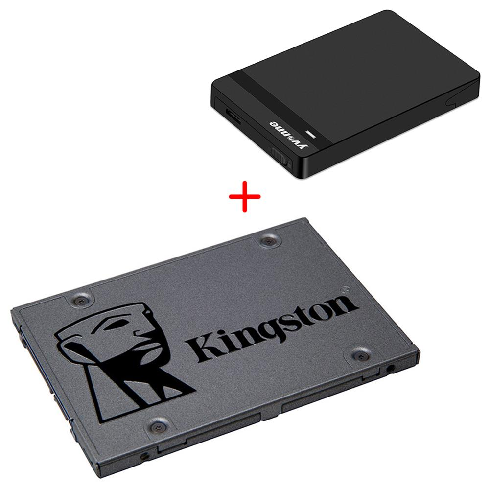 ssd-hdd-enclosures-[Package A] Kingston A400 480GB SATA3 High Speed SSD (Dark Gray) + Yvnne HD213 SATA To USB 3.0 External Hard Drive Enclosure Case (Black)- Package A Kingston A400 480GB SATA3 High Speed SSD Dark Gray Yvnne HD213 SATA To USB 3 0 External Hard Drive Enclosure Case Black