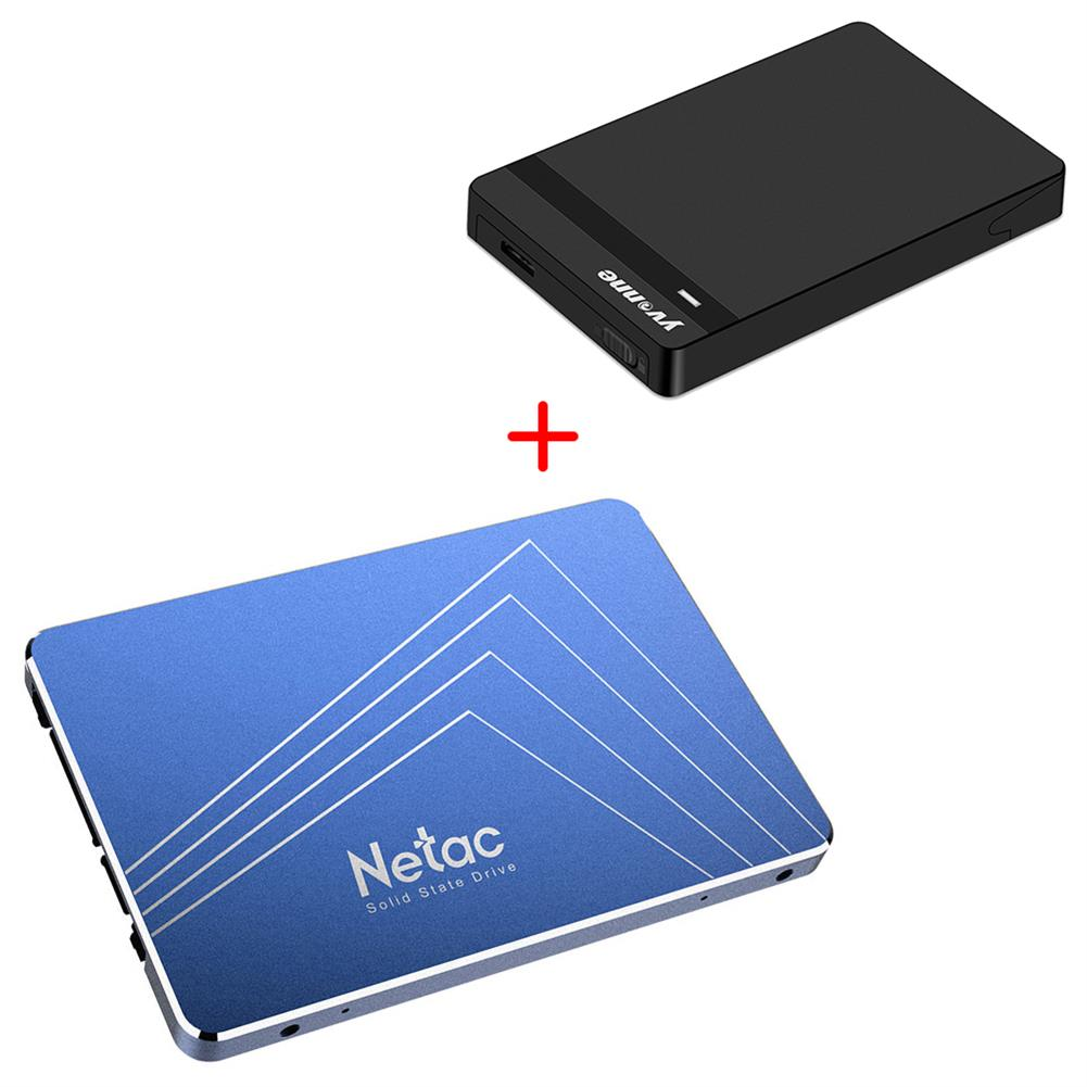 ssd-hdd-enclosures [Package A] Netac N600S 720GB SATA3 High Speed SSD (Blue) + Yvnne HD213 SATA To USB 3.0 External Hard Drive Enclosure Case (Black)  Package A Netac N600S 720GB SATA3 High Speed SSD Blue Yvnne HD213 SATA To USB 3 0 External Hard Drive Enclosure Case Black