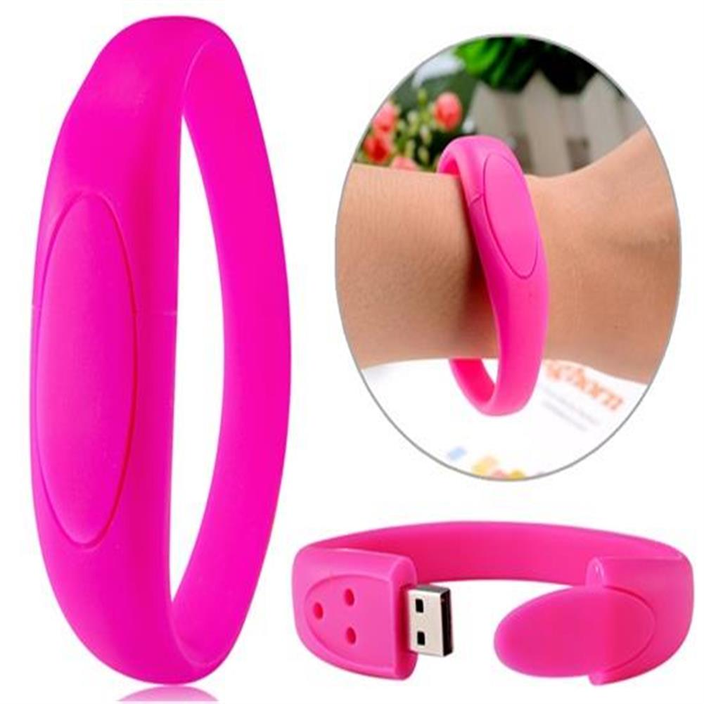 usb-flash-drives-1GB Silicone Bracelet Design USB Flash Drive - Red-1GB Silicone Bracelet Design USB Flash Drive Red