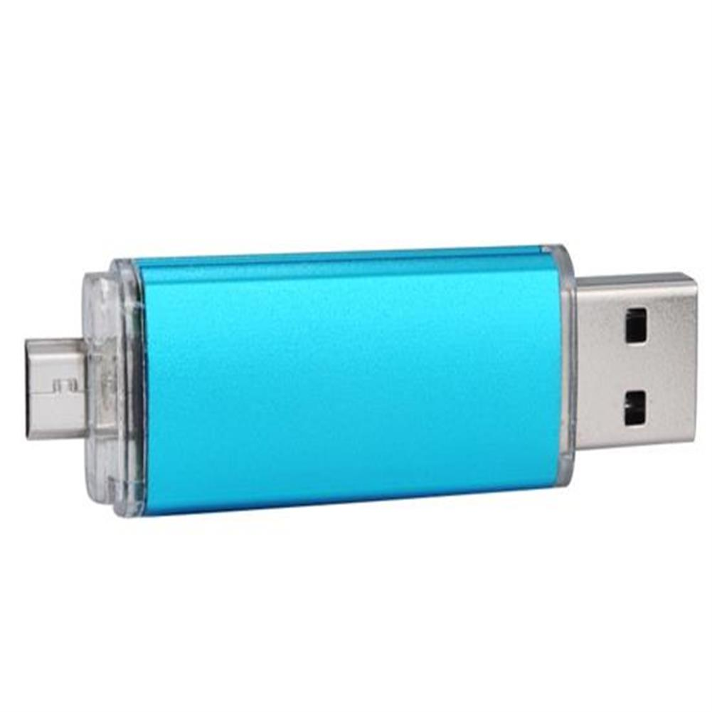 usb-flash-drives-2GB OTG Mobile Phone Plug And Play USB Flash Drive - Blue-2GB OTG Mobile Phone Plug And Play USB Flash Drive Blue