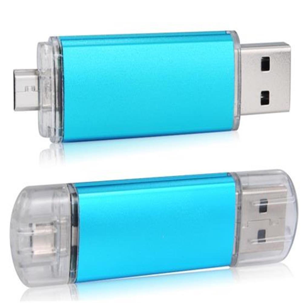 usb-flash-drives 2GB OTG Mobile Phone Plug And Play USB Flash Drive - Blue 2GB OTG Mobile Phone Plug And Play USB Flash Drive Blue 1