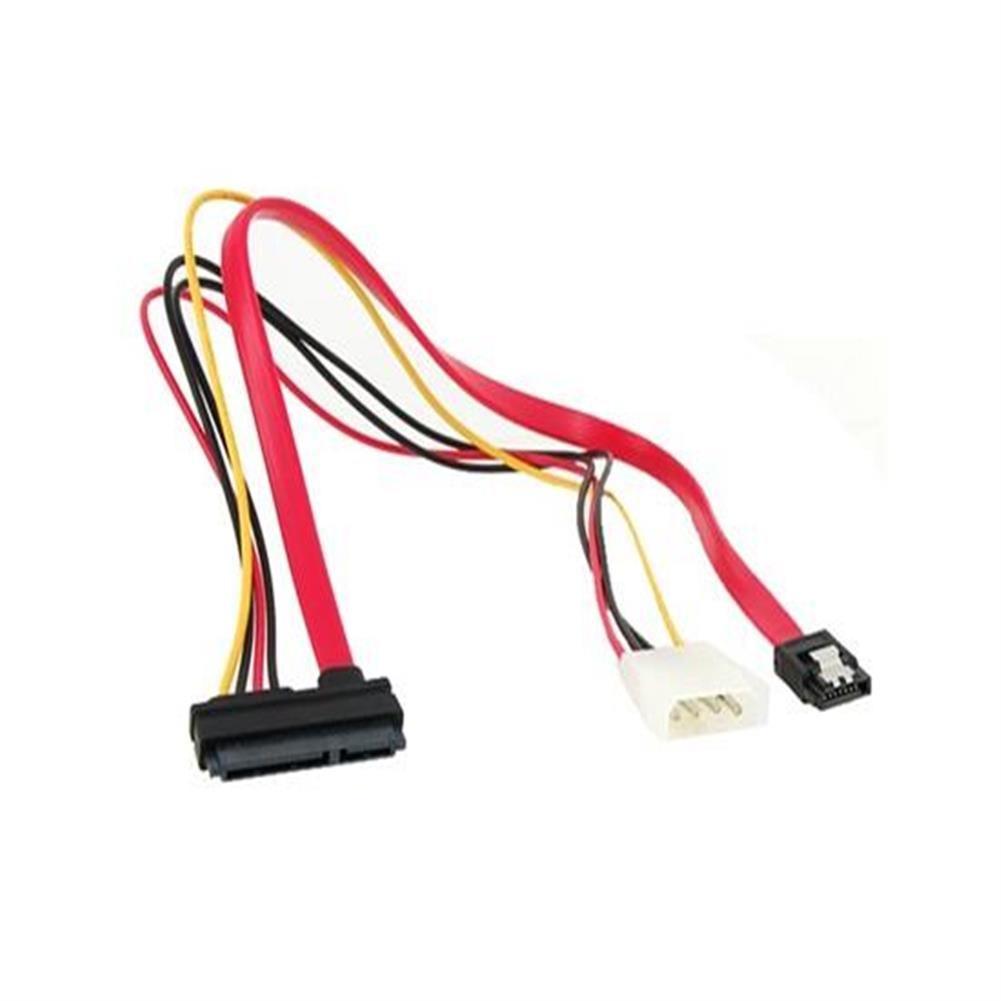 computer-networking-cables-4 Big Pin +7 Mini Pin Power/Data to 15 Pin IDE Power SATA Date Cable - Red-4 Big Pin 7 Mini Pin Power Data to 15 Pin IDE Power SATA Date Cable Red