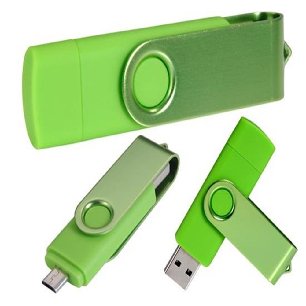 usb-flash-drives-64GB OTG Mobile Phone USB Flash Drive - Green-64GB OTG Mobile Phone USB Flash Drive Green