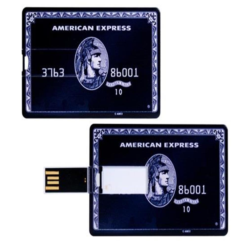 usb-flash-drives-8GB American Express Card Design USB Flash Drive - Black-8GB American Express Card Design USB Flash Drive Black
