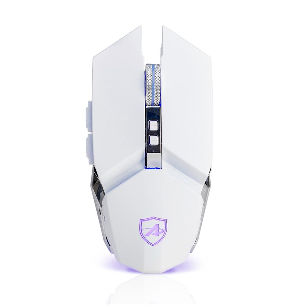 wired-mouse Ajazz 110S Mechanical Wired Mouse E-Sports Game USB DPI Max 3200 Four-Color Backlight Breathing Lamp - White Ajazz 110S Mechanical Wired Mouse E Sports Game USB DPI Max 3200 Four Color Backlight Breathing Lamp White