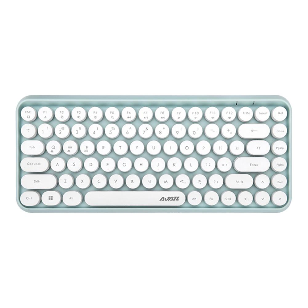 wireless-keyboards Ajazz 308i Bluetooth 3.0 Wireless Keyboard 84 Classic Round Keys Support Windows/iOS/Android And Other Common Systems - Green Ajazz 308i Bluetooth 3 0 Wireless Keyboard 84 Classic Round Keys Support Windows iOS Android And Other Common Systems Green