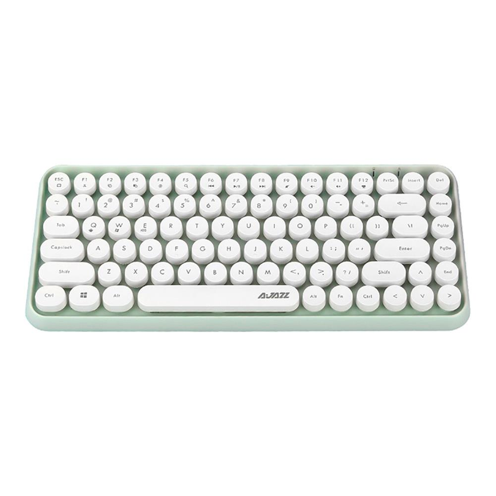 wireless-keyboards-Ajazz 308i Bluetooth 3.0 Wireless Keyboard 84 Classic Round Keys Support Windows/iOS/Android And Other Common Systems - Green-Ajazz 308i Bluetooth 3 0 Wireless Keyboard 84 Classic Round Keys Support Windows iOS Android And Other Common Systems Green 2