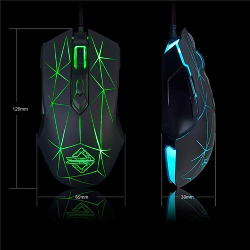 wired-mouse Ajazz AJ52 Star Version Wired Gaming Mouse 7 Programmable Buttons Colorful RGB Backlight Compatible Plug And Play - Black Ajazz AJ52 Star Version Wired Gaming Mouse 7 Programmable Buttons Colorful RGB Backlight Compatible Plug And Play Black 3