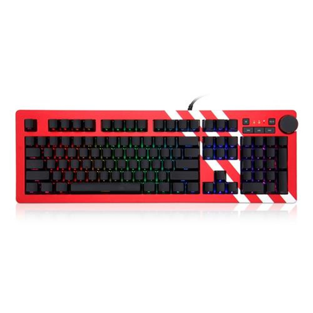 wired-keyboards Ajazz AK60 Wired Mechanical Gaming Keyboard Silver Switch RGB Backlight 104 Classic Layout - Red Ajazz AK60 Wired Mechanical Gaming Keyboard Silver Switch RGB Backlight 104 Classic Layout Red