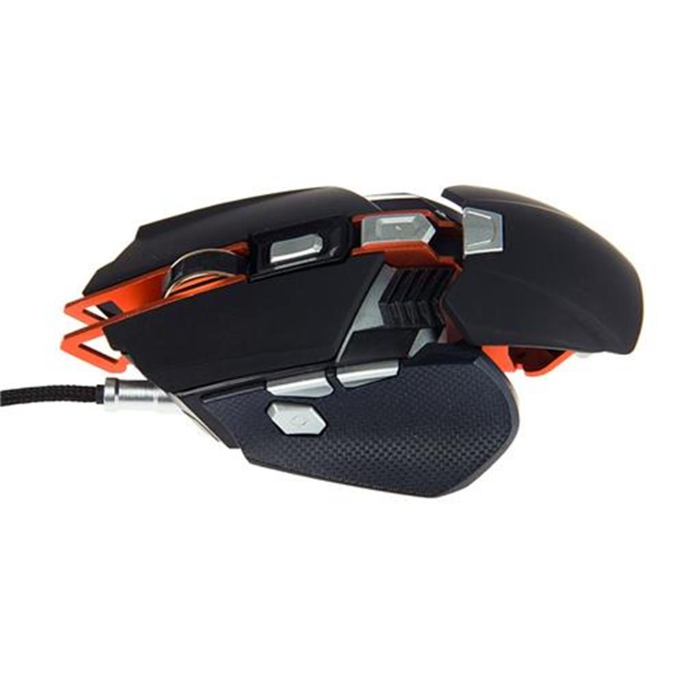 wired-mouse Ajazz GTX Ergonomic Wired Gaming Mouse 4000 DPI 7 Buttons Adjustable Wrist Pad Weight Tuning Side Buttons - Black Ajazz GTX Ergonomic Wired Gaming Mouse 4000 DPI 7 Buttons Adjustable Wrist Pad Weight Tuning Side Buttons Black 2
