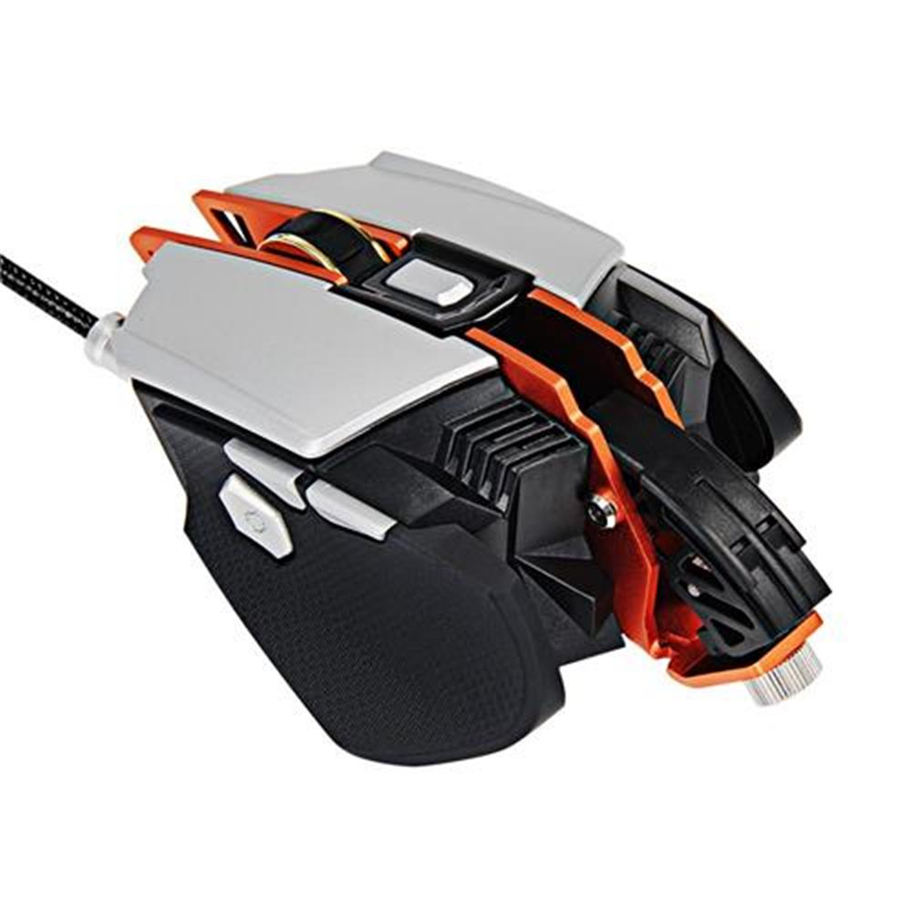 wired-mouse Ajazz GTX Ergonomic Wired Gaming Mouse 4000 DPI 7 Buttons Adjustable Wrist Pad Weight Tuning Side Buttons - White + Grey Ajazz GTX Ergonomic Wired Gaming Mouse 4000 DPI 7 Buttons Adjustable Wrist Pad Weight Tuning Side Buttons White Grey 5