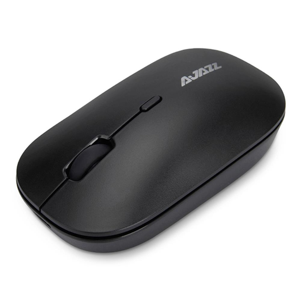 wireless-mouse Ajazz I18 Wireless 2.4G Dual Mode Mouse Simple Mute Operation For Office Gaming Mouse - Black Ajazz I18 Wireless 2 4G Dual Mode Mouse Simple Mute Operation For Office Gaming Mouse Black 2
