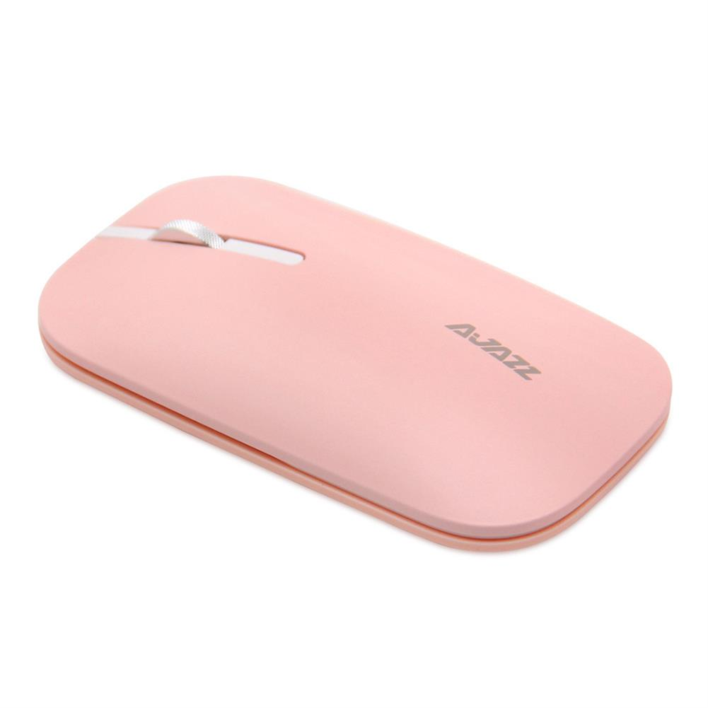 wireless-mouse-Ajazz I25 2.4G Wireless Optical Mouse 1600DPI Ultra-slim Mute Operation For Office - Pink-Ajazz I25 2 4G Wireless Optical Mouse 1600DPI Ultra slim Mute Operation For Office Pink 1