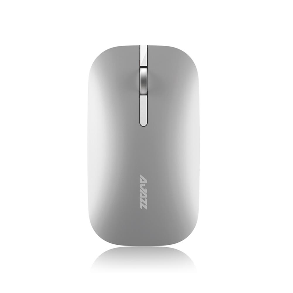 wireless-mouse-Ajazz I25T Bluetooth 2.4G Dual Mode Wireless Mouse Mute Thin Design - Silver-Ajazz I25T Bluetooth 2 4G Dual Mode Wireless Mouse Mute Thin Design Silver
