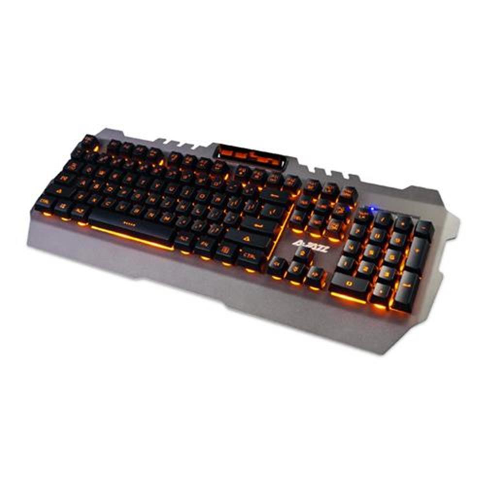 wired-keyboards Ajazz Membrane Keyboard 104 Keys 19-key Anti-Ghosting Waterproof Metal Panel With Backlit - Grey Ajazz Membrane Keyboard 104 Keys 19 key Anti Ghosting Waterproof Metal Panel With Backlit Grey 1