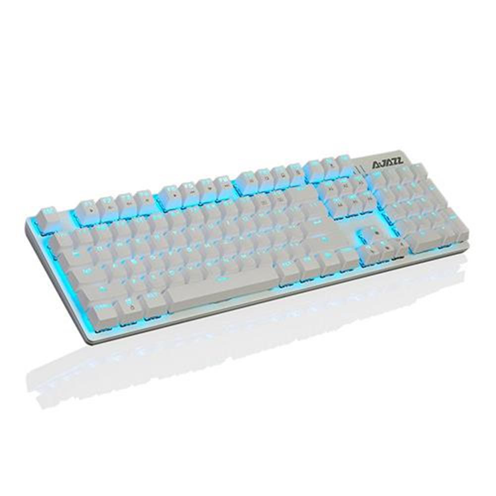 wired-keyboards Ajazz ROBOCOP Wired Mechanical Gaming Keyboard Backlights Blue Switch Ergonomic 104 Keys Anti-ghosting - White Ajazz ROBOCOP Wired Mechanical Gaming Keyboard Backlights Blue Switch Ergonomic 104 Keys Anti ghosting White 1