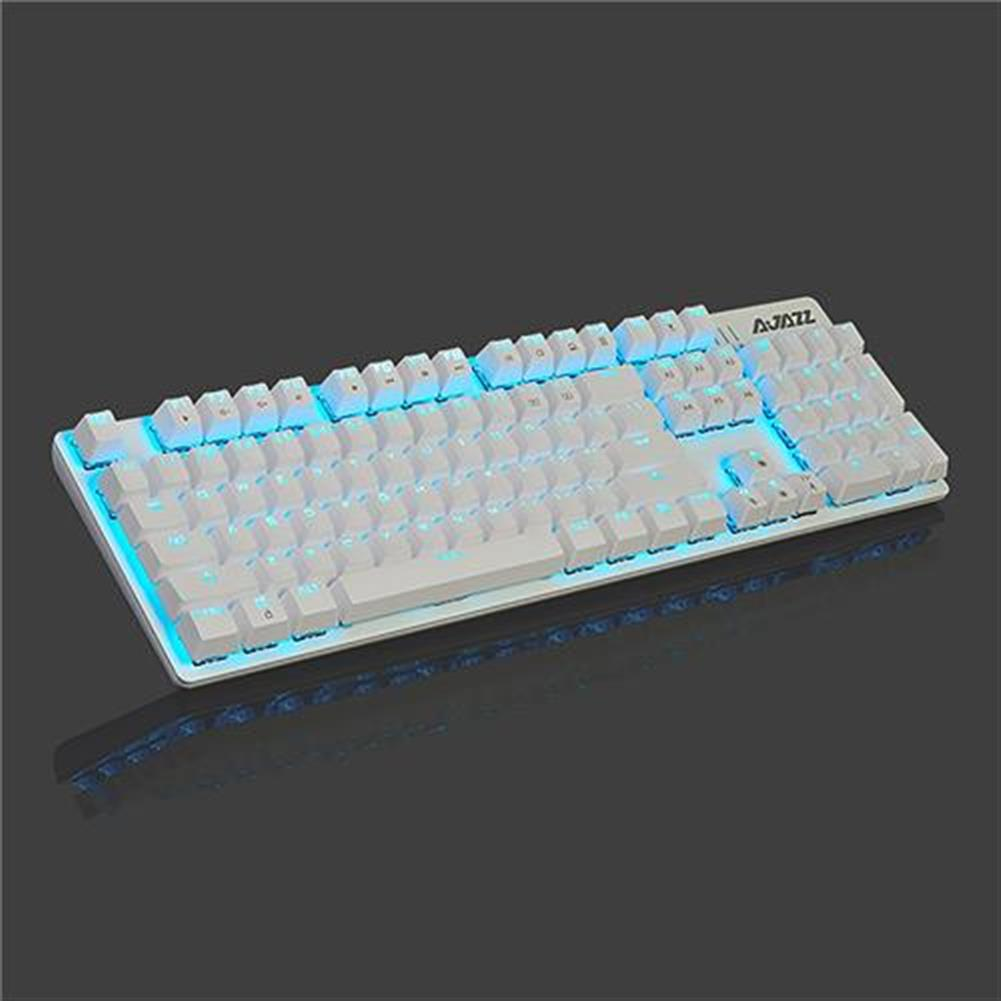 wired-keyboards Ajazz ROBOCOP Wired Mechanical Gaming Keyboard Backlights Blue Switch Ergonomic 104 Keys Anti-ghosting - White Ajazz ROBOCOP Wired Mechanical Gaming Keyboard Backlights Blue Switch Ergonomic 104 Keys Anti ghosting White 2