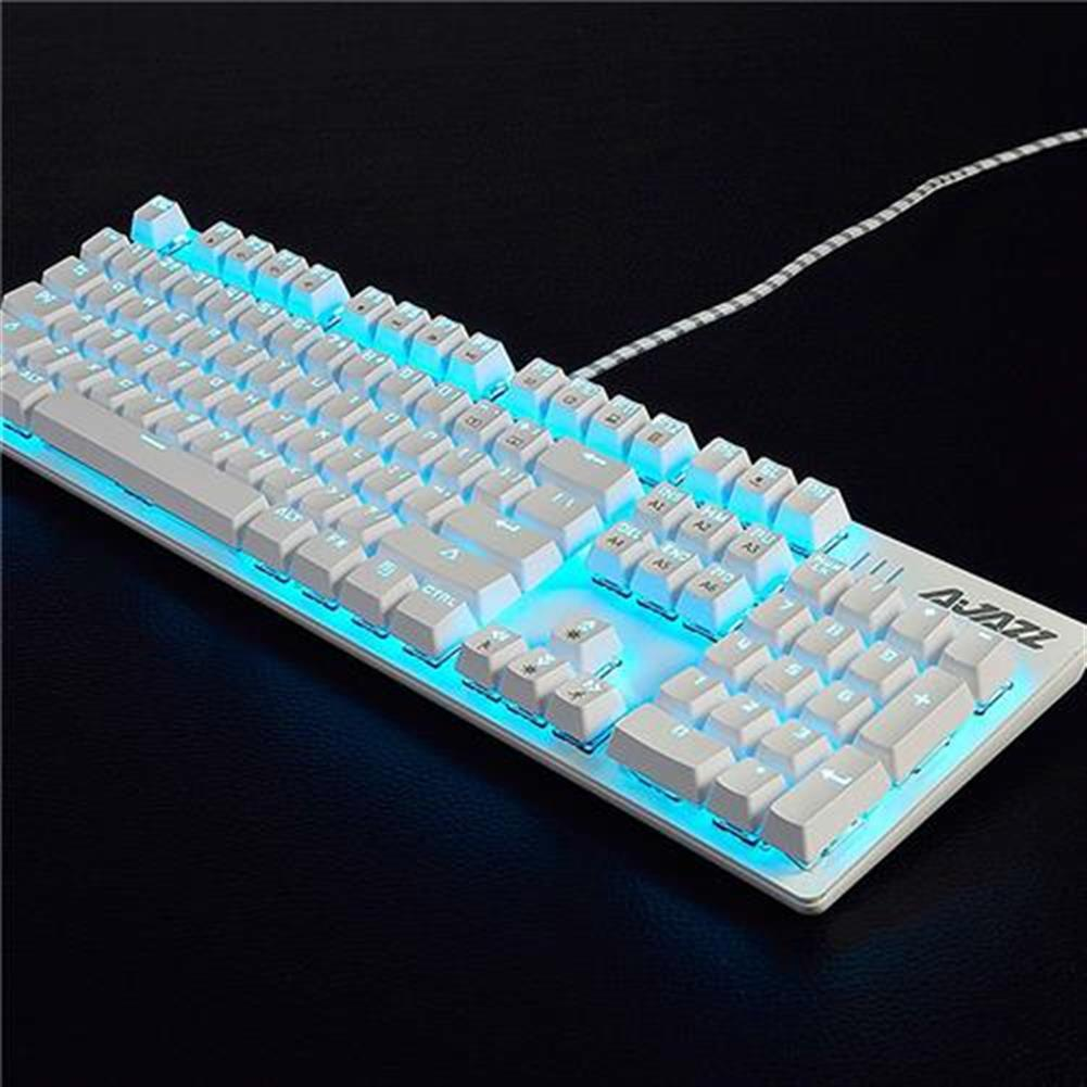 wired-keyboards Ajazz ROBOCOP Wired Mechanical Gaming Keyboard Backlights Red Switch 104 Keys Anti-ghosting - White Ajazz ROBOCOP Wired Mechanical Gaming Keyboard Backlights Red Switch 104 Keys Anti ghosting White 3