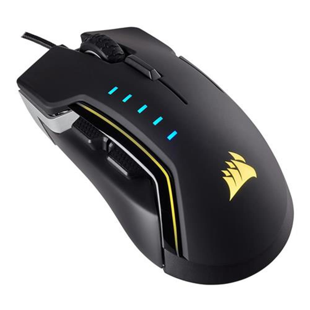 wired-mouse-CORSAIR Glaive RGB Wired Gaming Mouse RGB LED Backlit 16000 DPI Optical Aluminum OMRON Switches - Black-CORSAIR Glaive RGB Wired Gaming Mouse RGB LED Backlit 16000 DPI Optical Aluminum OMRON Switches Black