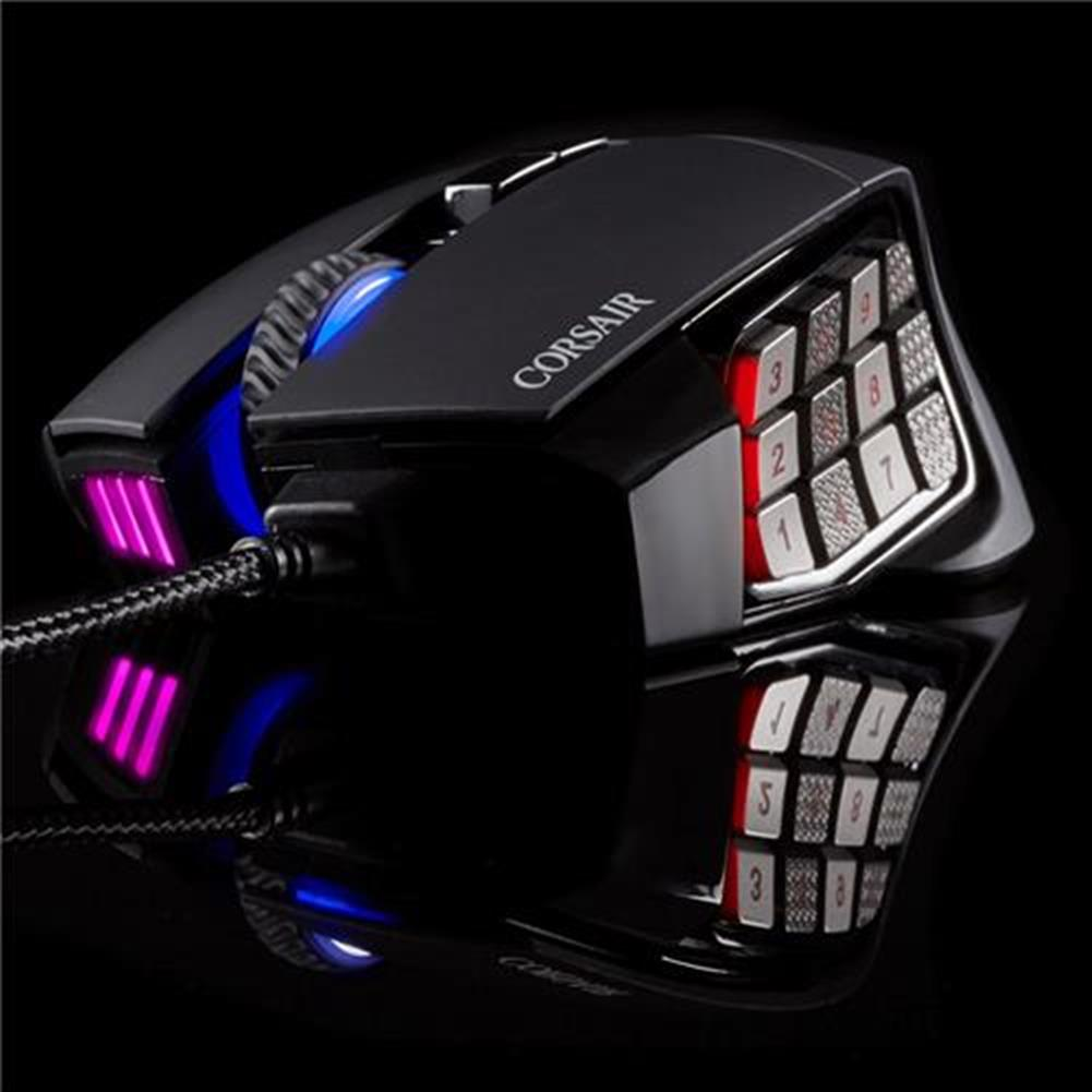 wired-mouse CORSAIR Scimitar RGB Pro Wired Gaming Mouse Backlit RGB LED 16000 DPI - Black Side Panel CORSAIR Scimitar RGB Pro Wired Gaming Mouse Backlit RGB LED 16000 DPI Black Side Panel 15