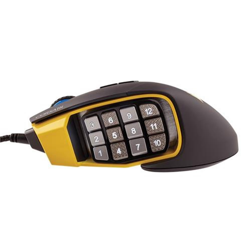 wired-mouse CORSAIR Scimitar RGB Pro Wired Gaming Mouse Backlit RGB LED 16000 DPI - Yellow Side Panel CORSAIR Scimitar RGB Pro Wired Gaming Mouse Backlit RGB LED 16000 DPI Yellow Side Panel 11