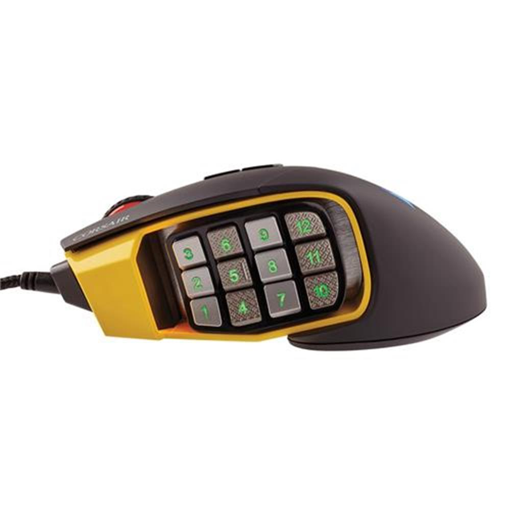 wired-mouse CORSAIR Scimitar RGB Pro Wired Gaming Mouse Backlit RGB LED 16000 DPI - Yellow Side Panel CORSAIR Scimitar RGB Pro Wired Gaming Mouse Backlit RGB LED 16000 DPI Yellow Side Panel 12