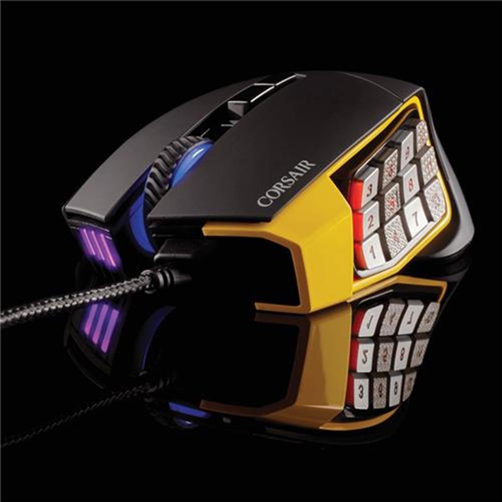 wired-mouse CORSAIR Scimitar RGB Pro Wired Gaming Mouse Backlit RGB LED 16000 DPI - Yellow Side Panel CORSAIR Scimitar RGB Pro Wired Gaming Mouse Backlit RGB LED 16000 DPI Yellow Side Panel 17