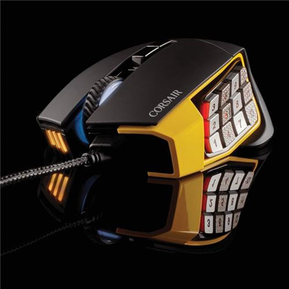 wired-mouse CORSAIR Scimitar RGB Pro Wired Gaming Mouse Backlit RGB LED 16000 DPI - Yellow Side Panel CORSAIR Scimitar RGB Pro Wired Gaming Mouse Backlit RGB LED 16000 DPI Yellow Side Panel 18