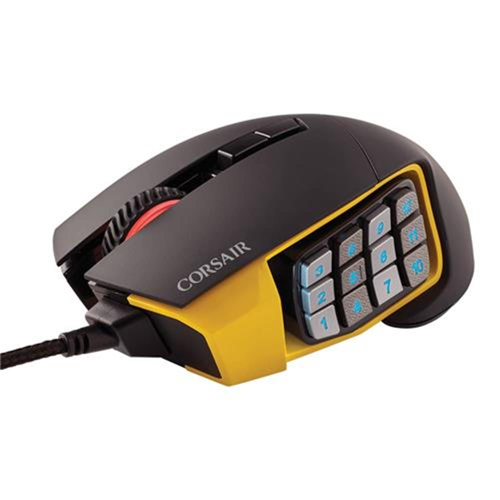 wired-mouse CORSAIR Scimitar RGB Pro Wired Gaming Mouse Backlit RGB LED 16000 DPI - Yellow Side Panel CORSAIR Scimitar RGB Pro Wired Gaming Mouse Backlit RGB LED 16000 DPI Yellow Side Panel 5