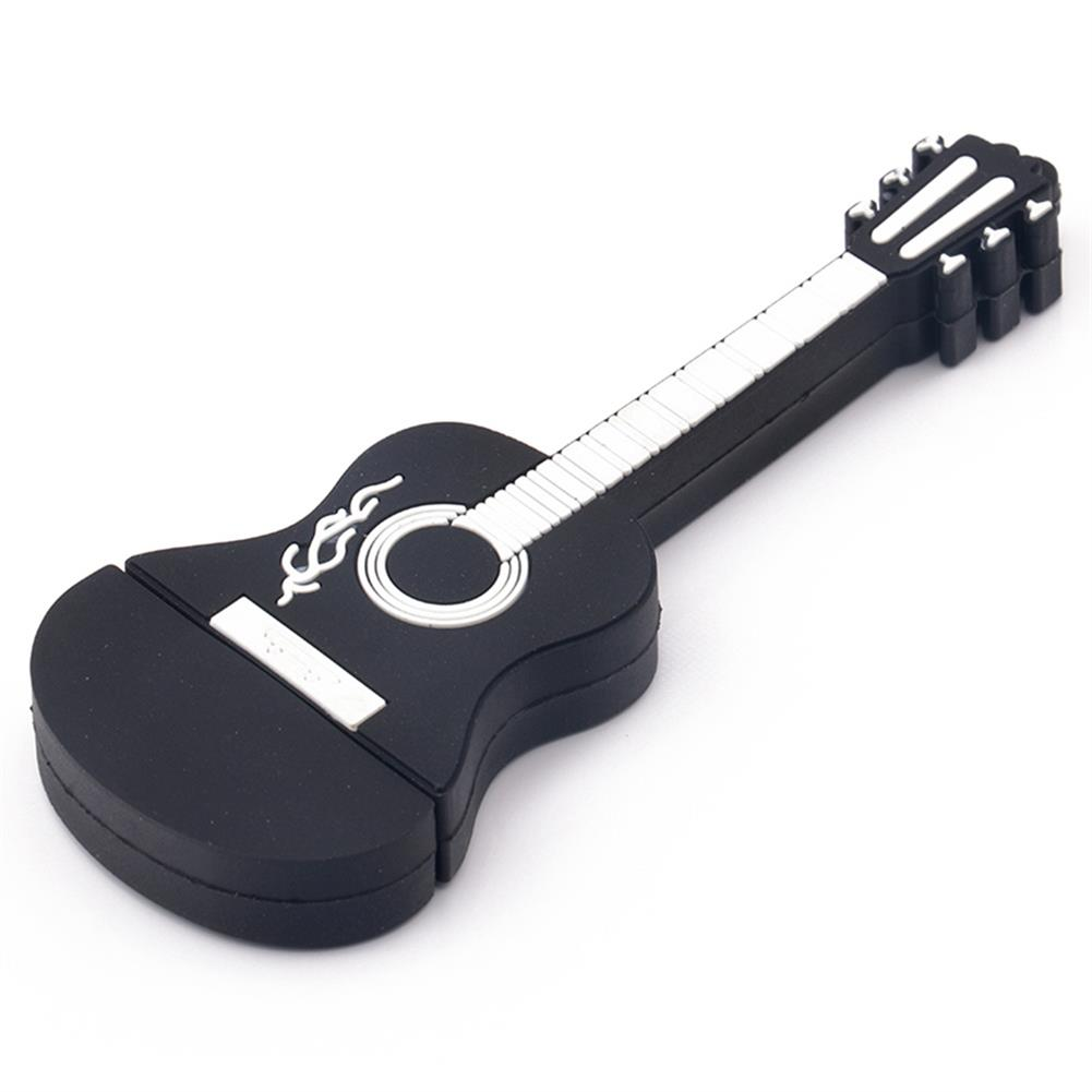 usb-flash-drives-CR10030 64GB Musical Guitar Cartoon Model Flash Drive USB2.0 Memory Stick - Black-CR10030 64GB Musical Guitar Cartoon Model Flash Drive USB2 0 Memory Stick Black