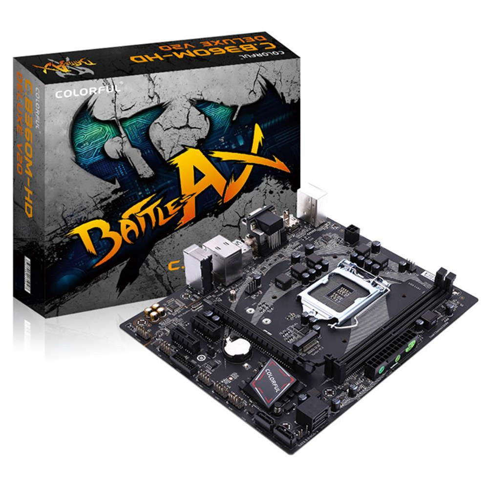 motherboards-Colorful Battle Axe C.B360M-HD DELUXE V20 Gaming Motherboard Intel B360 LGA 1151 mATX DDR4 SATA3 M.2 USB3.1 - Black-Colorful Battle Axe C B360M HD DELUXE V20 Gaming Motherboard Intel B360 LGA 1151 mATX DDR4 SATA3 M 2 USB3 1 Black 2