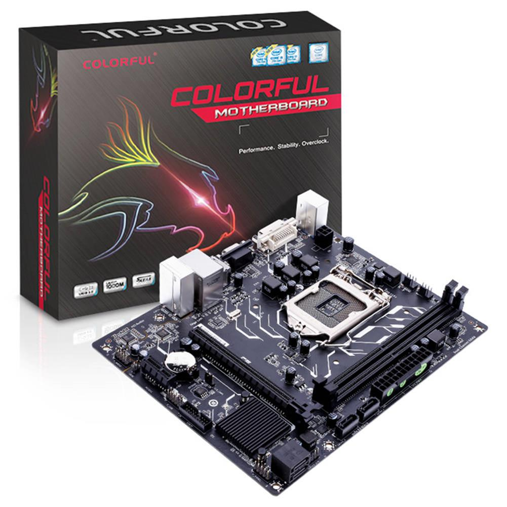 motherboards-Colorful C.H310M-K PRO V20 Motherboard Intel LGA 1151 mATX DDR4 SATA3 PCI-E3.0 USB3.0 VGA+DVI - Black-Colorful C H310M K PRO V20 Motherboard Intel LGA 1151 mATX DDR4 SATA3 PCI E3 0 USB3 0 VGA DVI Black 1