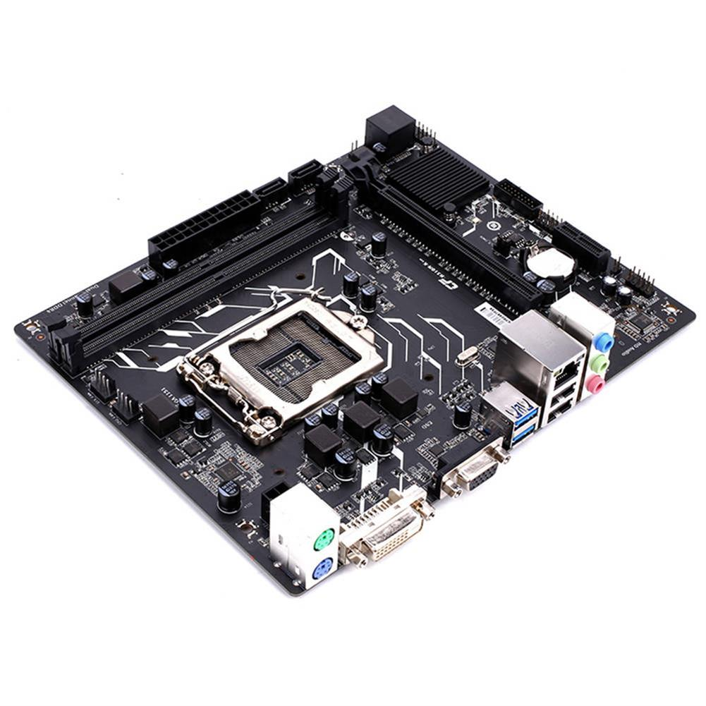 motherboards-Colorful C.H310M-K PRO V20 Motherboard Intel LGA 1151 mATX DDR4 SATA3 PCI-E3.0 USB3.0 VGA+DVI - Black-Colorful C H310M K PRO V20 Motherboard Intel LGA 1151 mATX DDR4 SATA3 PCI E3 0 USB3 0 VGA DVI Black 4