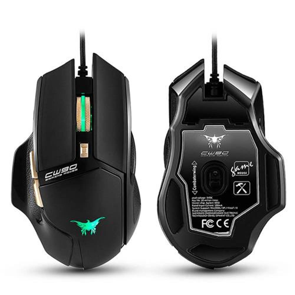 wired-mouse Combaterwing CW-90 6 Keys Gaming Mouse 3800DPI with Optical Sensor Ergonomic Design - Black Combaterwing CW 90 6 Keys Gaming Mouse 3800DPI with Optical Sensor Ergonomic Design Black
