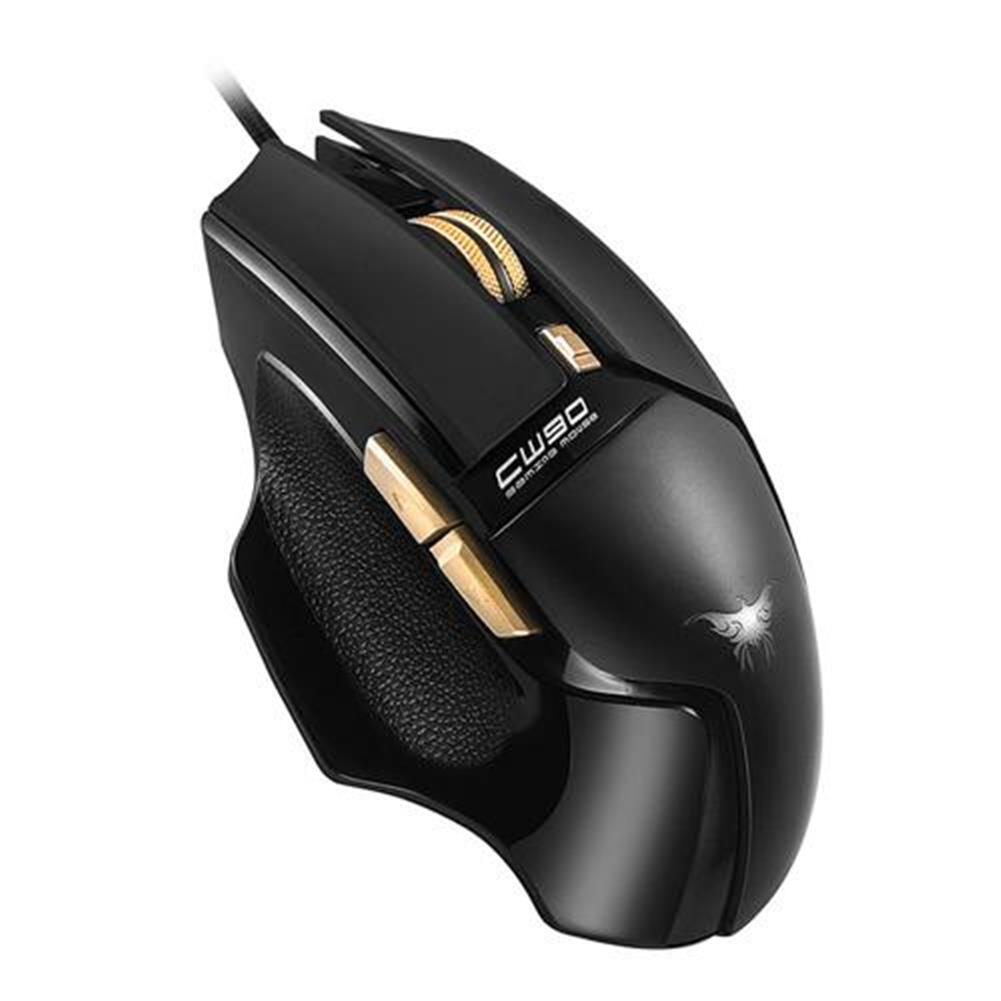 wired-mouse Combaterwing CW-90 6 Keys Gaming Mouse 3800DPI with Optical Sensor Ergonomic Design - Black Combaterwing CW 90 6 Keys Gaming Mouse 3800DPI with Optical Sensor Ergonomic Design Black 3