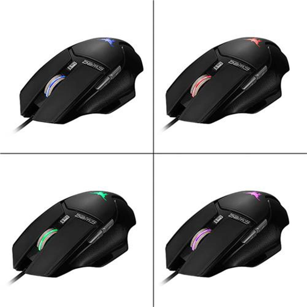wired-mouse Combaterwing CW-90 6 Keys Gaming Mouse 3800DPI with Optical Sensor Ergonomic Design - Black Combaterwing CW 90 6 Keys Gaming Mouse 3800DPI with Optical Sensor Ergonomic Design Black 9