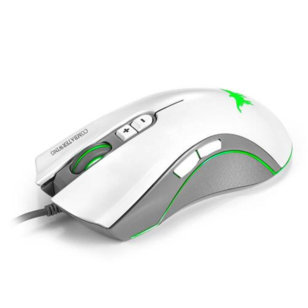 wired-mouse Combaterwing CW10 Professional Gaming Mouse USB Wired 4800DPI 7 Buttons 6 Colors Breathing LED - White Combaterwing CW10 Professional Gaming Mouse USB Wired 4800DPI 7 Buttons 6 Colors Breathing LED White 2