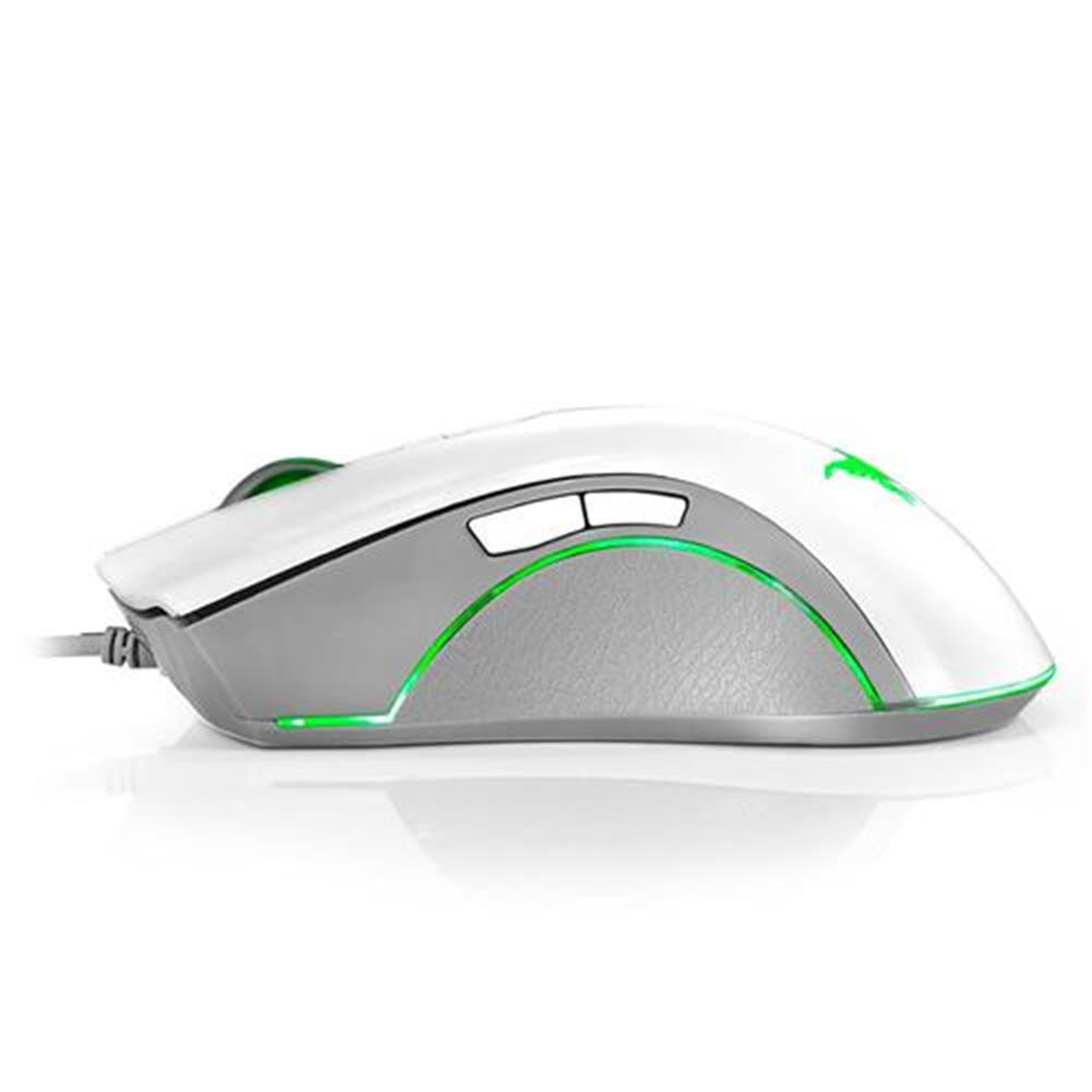 wired-mouse Combaterwing CW10 Professional Gaming Mouse USB Wired 4800DPI 7 Buttons 6 Colors Breathing LED - White Combaterwing CW10 Professional Gaming Mouse USB Wired 4800DPI 7 Buttons 6 Colors Breathing LED White 3