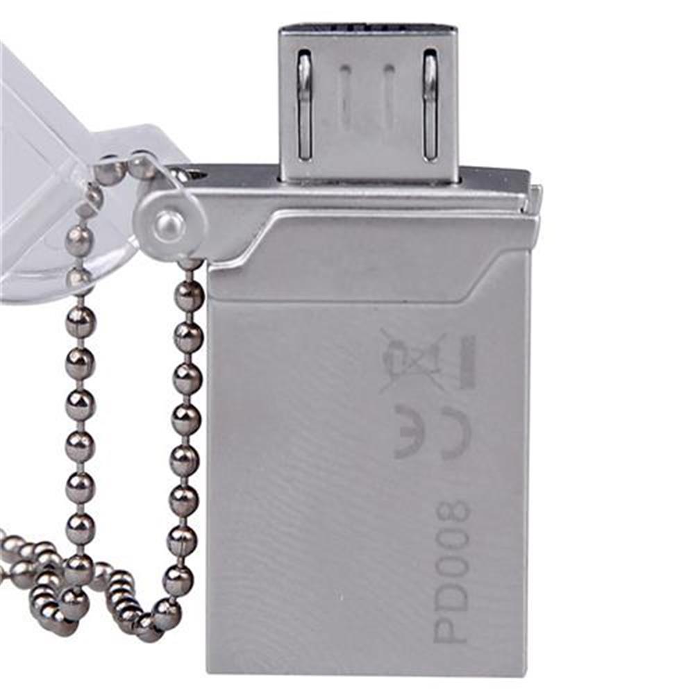 usb-flash-drives DM PD008 16GB OTG USB 2.0 Micro USB Flash Drive USB Stick - Silver DM PD008 16GB OTG USB 2 0 Micro USB Flash Drive USB Stick Silver 1
