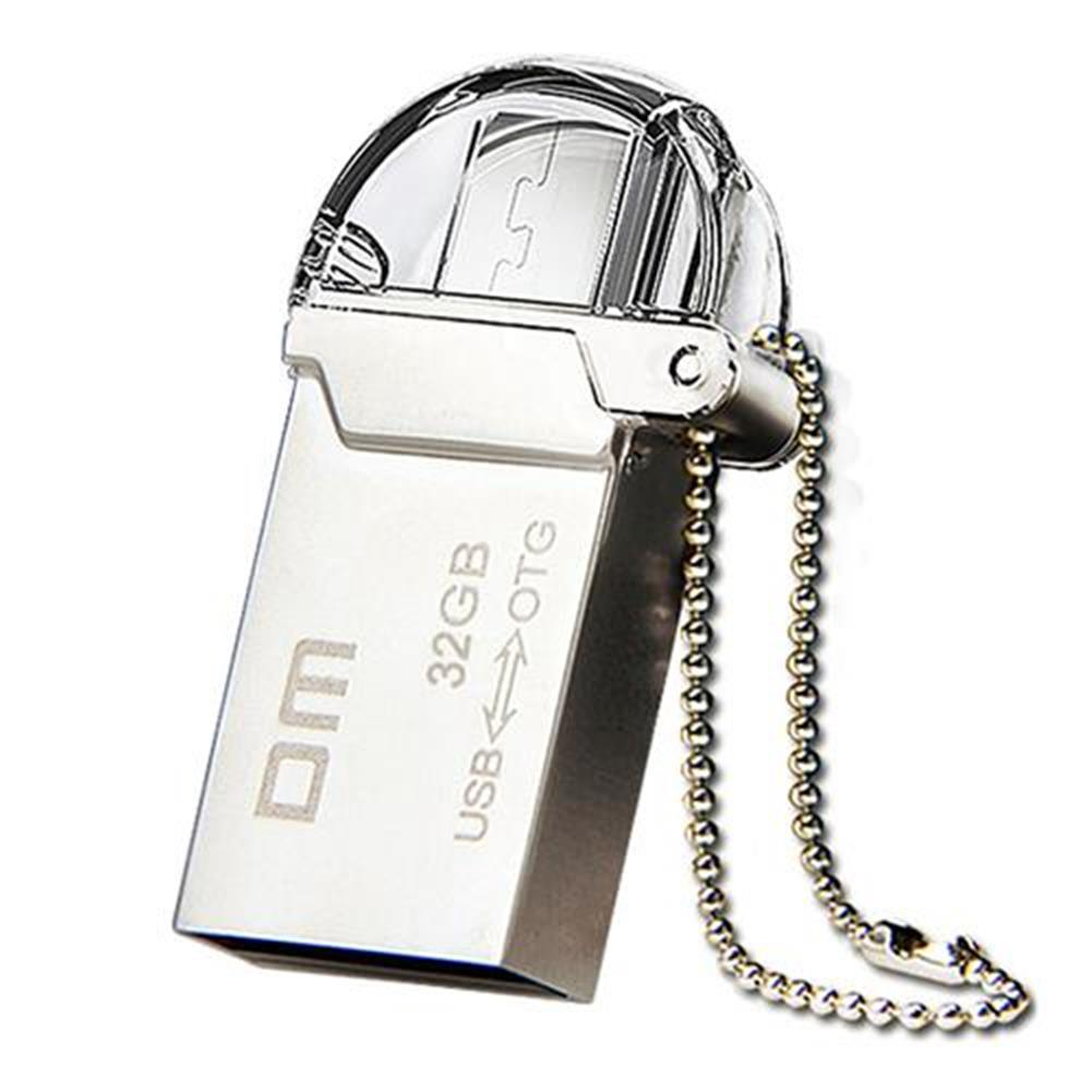 -Best Seller-DM PD008 32GB OTG USB 2 0 Micro USB Flash Drive USB Stick Silver