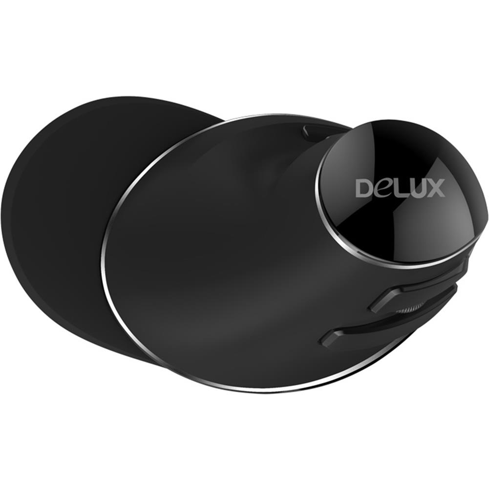 wireless-mouse-Delux M618 Plus 2.4G Blue Light Wireless Portable Mobile Mouse 6 Buttons For PC Laptop Desktop 1600 DPI - Black-Delux M618 Plus 2 4G Blue Light Wireless Portable Mobile Mouse 6 Buttons For PC Laptop Desktop 1600 DPI Black 5