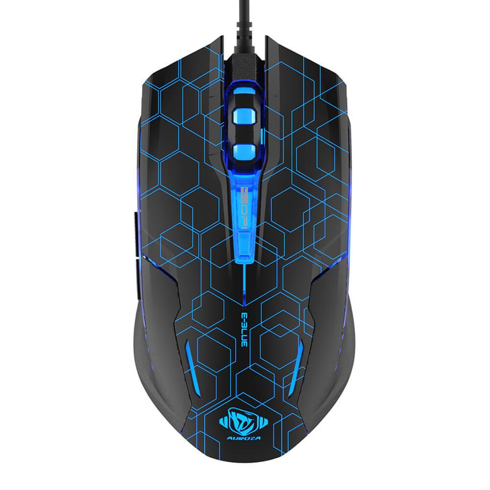 wired-mouse E-3LUE M636 Optical Gaming Mouse Crack Edition With LED Breathing Light - Black E 3LUE M636 Optical Gaming Mouse Crack Edition With LED Breathing Light Black