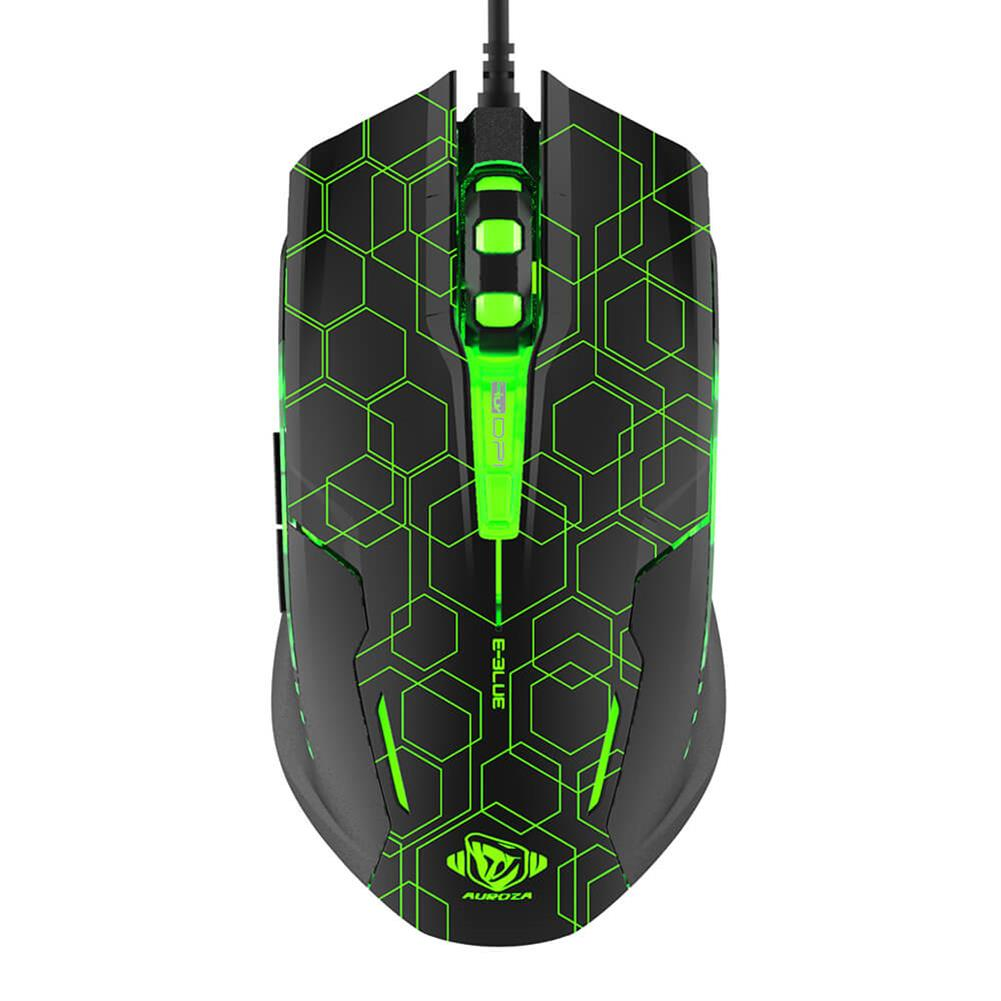 wired-mouse E-3LUE M636 Optical Gaming Mouse Crack Edition With LED Breathing Light - Black E 3LUE M636 Optical Gaming Mouse Crack Edition With LED Breathing Light Black 1
