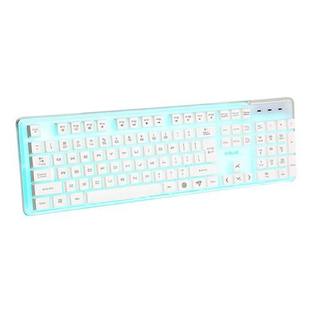 wired-keyboards E-3lue EKM725 Water Resistant Colorful Backlit Gaming Keyboard 8 Switchable Backlight - White E 3lue EKM725 Water Resistant Colorful Backlit Gaming Keyboard 8 Switchable Backlight White 1