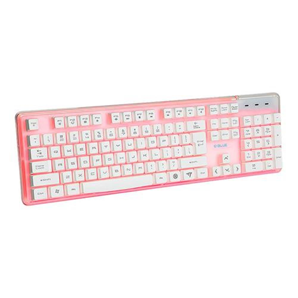 wired-keyboards E-3lue EKM725 Water Resistant Colorful Backlit Gaming Keyboard 8 Switchable Backlight - White E 3lue EKM725 Water Resistant Colorful Backlit Gaming Keyboard 8 Switchable Backlight White 2