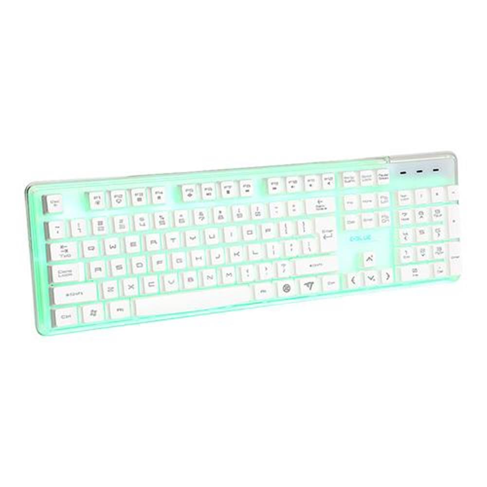 wired-keyboards E-3lue EKM725 Water Resistant Colorful Backlit Gaming Keyboard 8 Switchable Backlight - White E 3lue EKM725 Water Resistant Colorful Backlit Gaming Keyboard 8 Switchable Backlight White 3