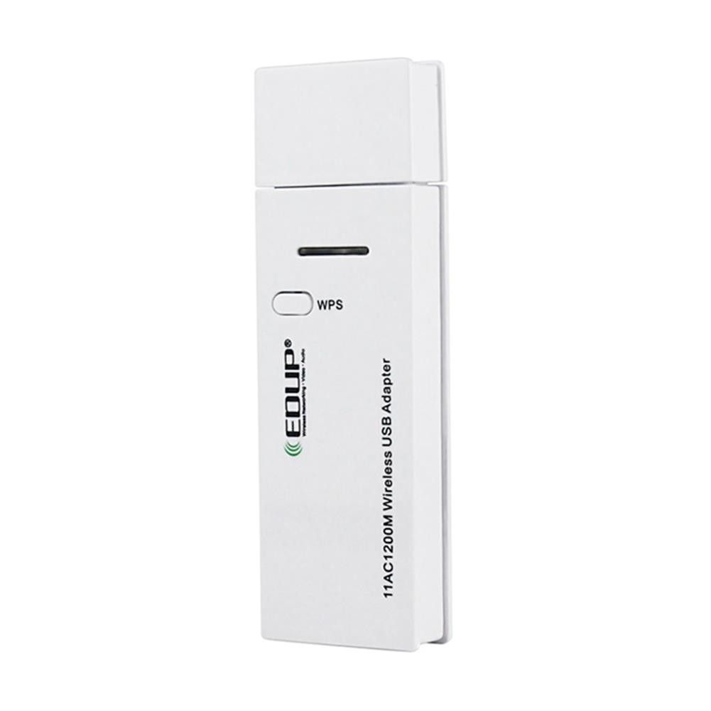usb-wi-fi-adapters-dongles-EDUP EP-AC1601 Mini 802.11ac WiFi Dongle WiFi USB 3.0 Adapter 1200Mbps 2.4GHz/ 5.8GHz Dual Bands Network Card - White-EDUP EP AC1601 Mini 802 11ac WiFi Dongle WiFi USB 3 0 Adapter 1200Mbps 2 4GHz 5 8GHz Dual Bands Network Card White