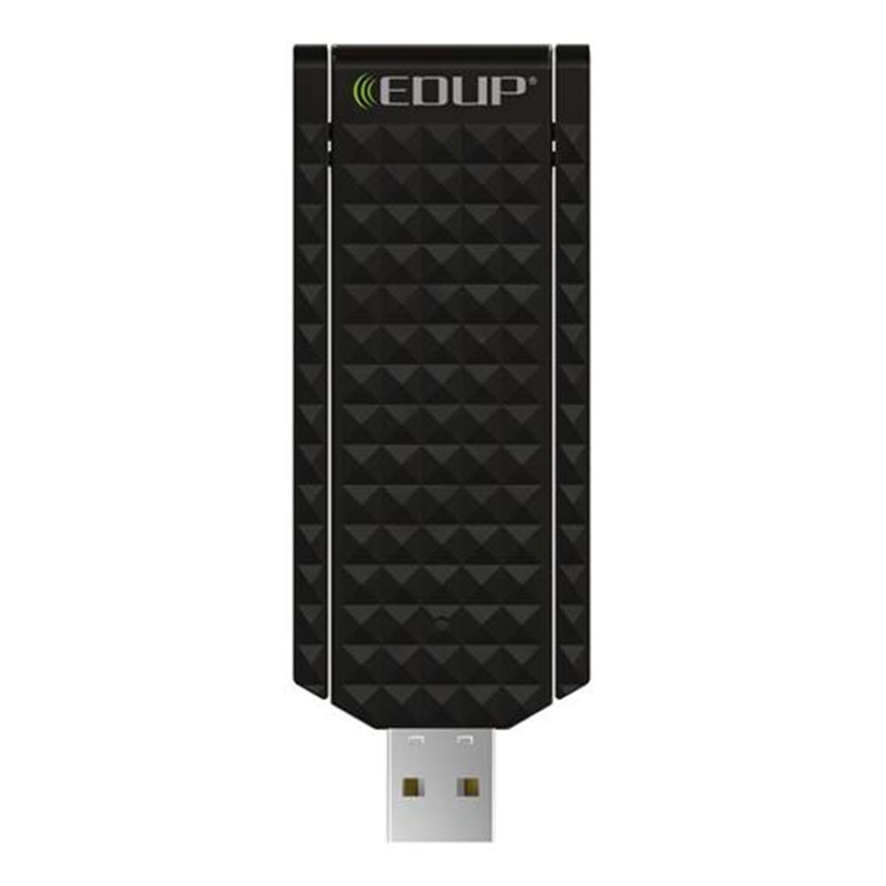 usb-wi-fi-adapters-dongles EDUP EP-AC1625 Dual Band USB WiFi Adapter 2.4GHz 5.8GHz Dual Band 802.11AC 600Mbps With External Double Antennas - Black EDUP EP AC1625 Dual Band USB WiFi Adapter 2 4GHz 5 8GHz Dual Band 802 11AC 600Mbps With External Double Antennas Black 1