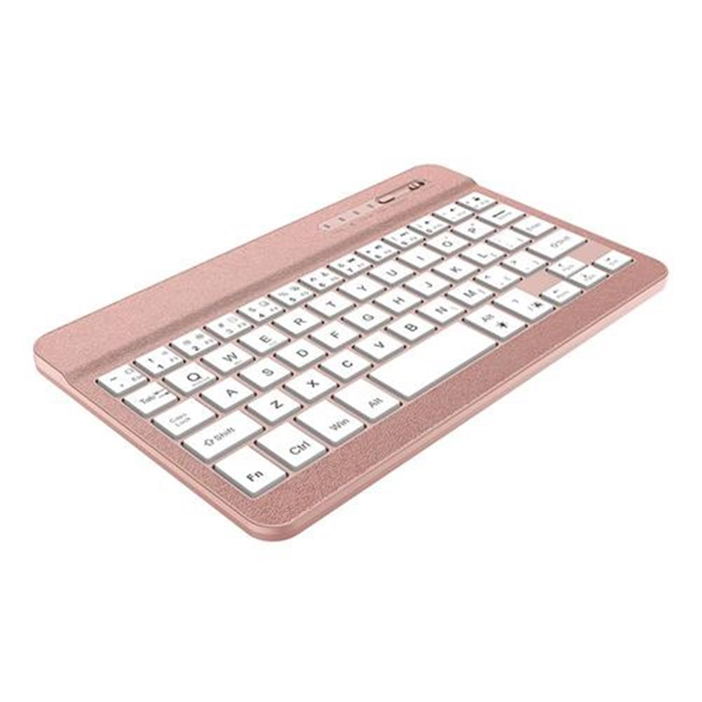 wireless-keyboards F20 Wireless Bluetooth 7 inches Keyboard Adjustable Colorful Backlight for iOS/Android/Windows - Rose Gold F20 Wireless Bluetooth 7 inches Keyboard Adjustable Colorful Backlight for iOS Android Windows Rose Gold 1