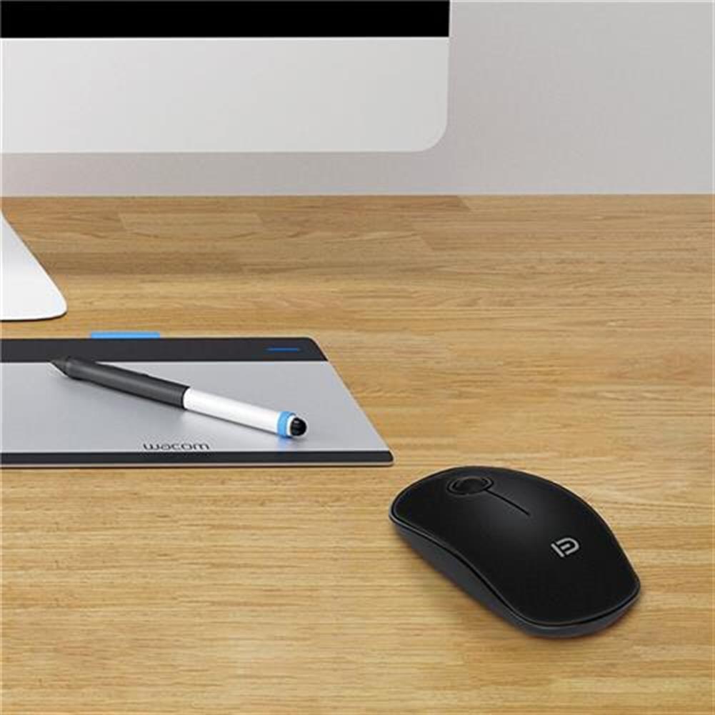 wireless-mouse-FUDE V8 2.4GHz Wireless Ultra Thin Mouse Compact Soundless Mice 1500DPI - Black-FUDE V8 2 4GHz Wireless Ultra Thin Mouse Compact Soundless Mice 1500DPI Black 4